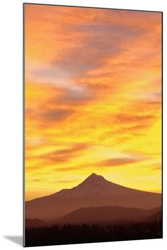 Sunrise over Mount Hood, Portland, Oregon, USA-Design Pics Inc-Mounted Photographic Print