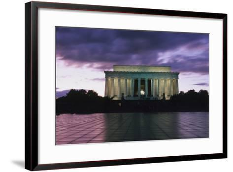 The Lincoln Memorial at West End of National Mall at Dusk-Design Pics Inc-Framed Art Print