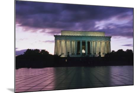 The Lincoln Memorial at West End of National Mall at Dusk-Design Pics Inc-Mounted Photographic Print