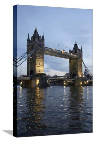 Tower Bridge and River Thames at Dusk, London,England,Uk-Design Pics Inc-Stretched Canvas Print