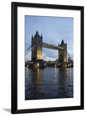 Tower Bridge and River Thames at Dusk, London,England,Uk-Design Pics Inc-Framed Art Print