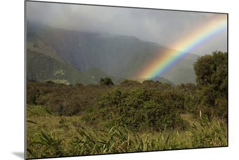 Hawaii, Maui, a Rainbow over the Lush Kaupo Gap-Design Pics Inc-Mounted Photographic Print