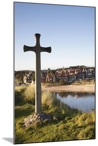 Cross on a Hill Overlooking Town; Alnmouth, Northumberland, England-Design Pics Inc-Mounted Photographic Print