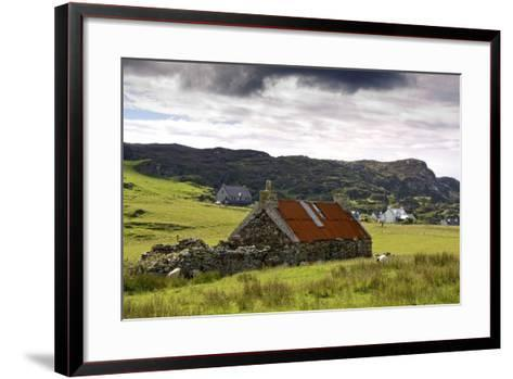 Isle of Colonsay, Scotland; Stone Farmhouse and Surrounding Field-Design Pics Inc-Framed Art Print