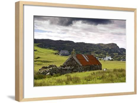 Isle of Colonsay, Scotland; Stone Farmhouse and Surrounding Field-Design Pics Inc-Framed Art Print