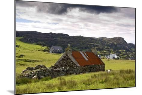 Isle of Colonsay, Scotland; Stone Farmhouse and Surrounding Field-Design Pics Inc-Mounted Photographic Print