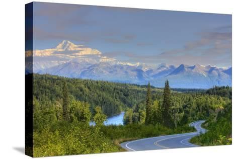 Scenic View of Mt. Mckinley and the Parks Highway Denali National Park Near the Princess Lodge-Design Pics Inc-Stretched Canvas Print