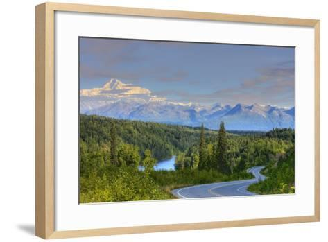Scenic View of Mt. Mckinley and the Parks Highway Denali National Park Near the Princess Lodge-Design Pics Inc-Framed Art Print