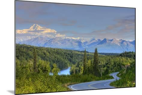 Scenic View of Mt. Mckinley and the Parks Highway Denali National Park Near the Princess Lodge-Design Pics Inc-Mounted Photographic Print