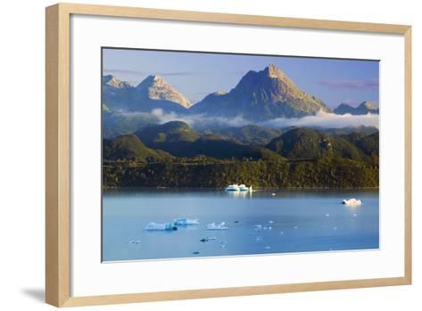 Icebergs Floating-Design Pics Inc-Framed Art Print