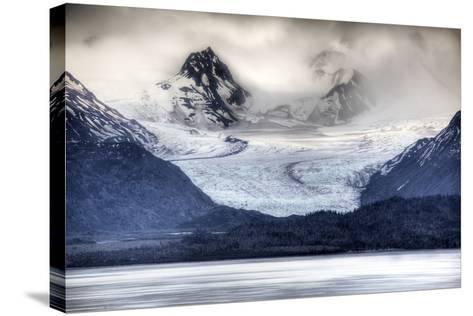 View of Grewingk Glacier Flowing into Kachemak Bay, Near Homer, Kenai Peninsula, Alaska, Spring-Design Pics Inc-Stretched Canvas Print