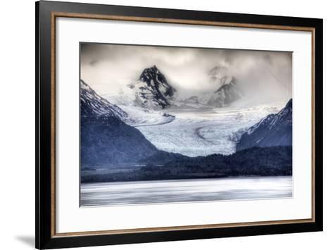 View of Grewingk Glacier Flowing into Kachemak Bay, Near Homer, Kenai Peninsula, Alaska, Spring-Design Pics Inc-Framed Art Print