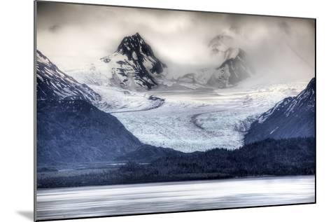 View of Grewingk Glacier Flowing into Kachemak Bay, Near Homer, Kenai Peninsula, Alaska, Spring-Design Pics Inc-Mounted Photographic Print
