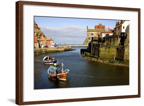 Moored Boats in Staithes; North Yorkshire, England, Uk-Design Pics Inc-Framed Art Print