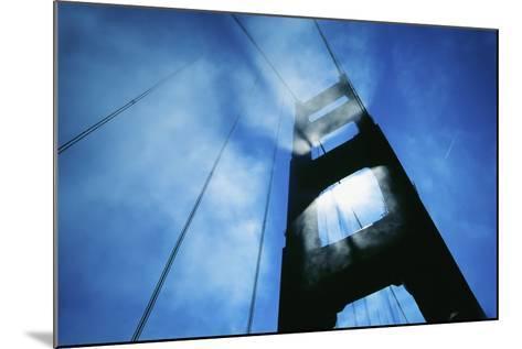 Sunlight Shining Through Golden Gate Bridge, Close-Up-Design Pics Inc-Mounted Photographic Print