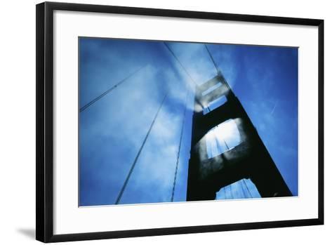Sunlight Shining Through Golden Gate Bridge, Close-Up-Design Pics Inc-Framed Art Print