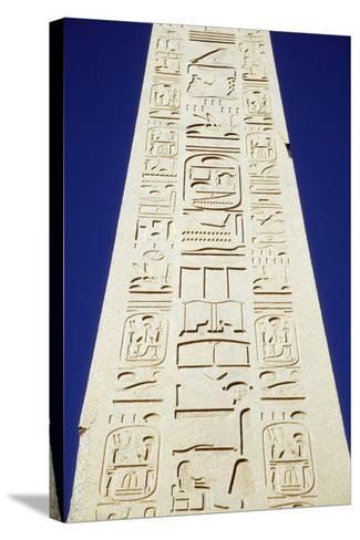 Obelisk of Tuthmosis Iii and Blue Sky, Close Up-Design Pics Inc-Stretched Canvas Print