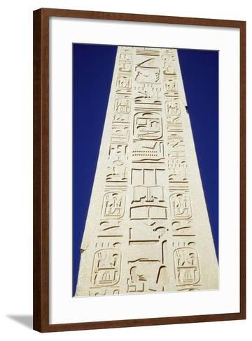 Obelisk of Tuthmosis Iii and Blue Sky, Close Up-Design Pics Inc-Framed Art Print