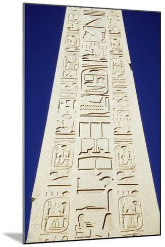 Obelisk of Tuthmosis Iii and Blue Sky, Close Up-Design Pics Inc-Mounted Photographic Print