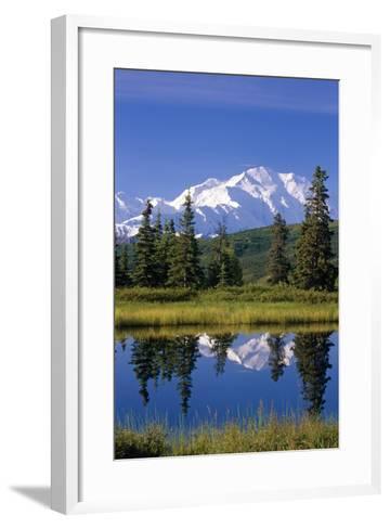 Mt Mckinley Reflecting in Nugget Pond Denali National Park Interior Alaska Summer-Design Pics Inc-Framed Art Print