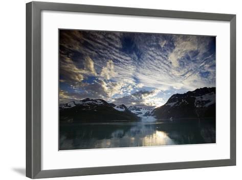 View of Surprise Glacier at Sunset Harriman Fjord Pws Southcentral Alaska Summer-Design Pics Inc-Framed Art Print