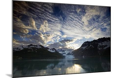 View of Surprise Glacier at Sunset Harriman Fjord Pws Southcentral Alaska Summer-Design Pics Inc-Mounted Photographic Print