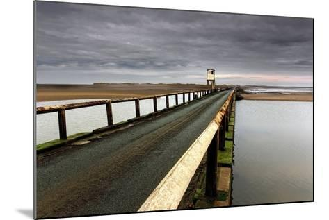 A Road Going over Water Towards a Beach; Northumberland,England-Design Pics Inc-Mounted Photographic Print