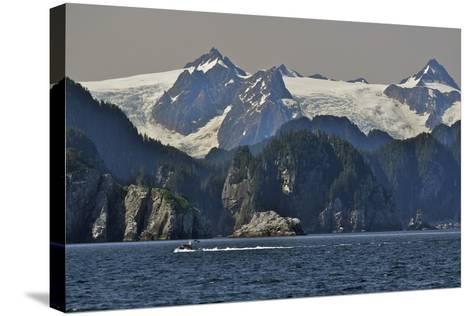 Kenai Fjords Tour Boat in Resurrection Bay Near Seward, Alaska During Summer-Design Pics Inc-Stretched Canvas Print