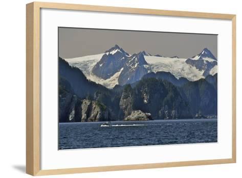 Kenai Fjords Tour Boat in Resurrection Bay Near Seward, Alaska During Summer-Design Pics Inc-Framed Art Print