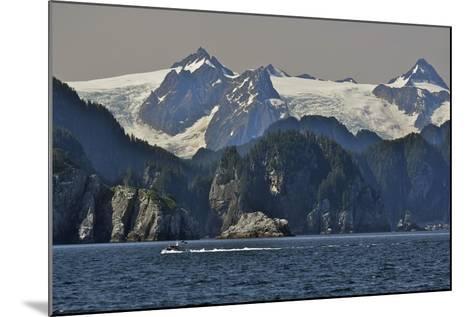 Kenai Fjords Tour Boat in Resurrection Bay Near Seward, Alaska During Summer-Design Pics Inc-Mounted Photographic Print