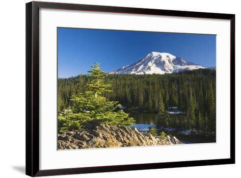 Snow-Capped Mountain; Washington,USA-Design Pics Inc-Framed Art Print