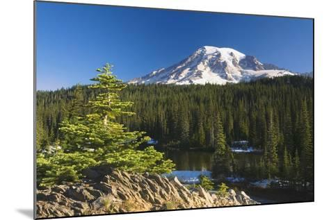 Snow-Capped Mountain; Washington,USA-Design Pics Inc-Mounted Photographic Print