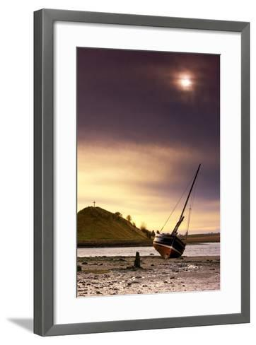 Boat on Beach at Low Tide; Alnmouth, Northumberland, England-Design Pics Inc-Framed Art Print