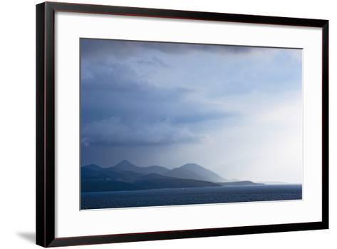 Fading Seascape of Ioninan Islands at Sunset, Ioninan Islands,Greece-Design Pics Inc-Framed Art Print