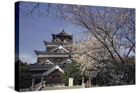 Hiroshima Castle and Cherry Blossoms in Spring-Design Pics Inc-Stretched Canvas Print