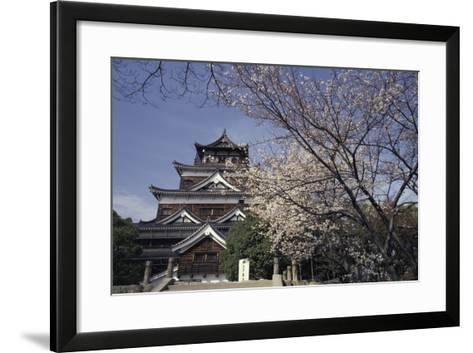 Hiroshima Castle and Cherry Blossoms in Spring-Design Pics Inc-Framed Art Print