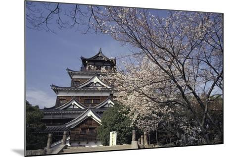 Hiroshima Castle and Cherry Blossoms in Spring-Design Pics Inc-Mounted Photographic Print