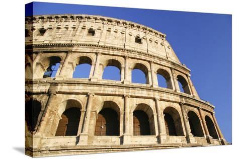 The Colosseum and Blue Sky, Close Up-Design Pics Inc-Stretched Canvas Print
