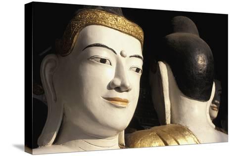 Buddhas at Shwedagon Paya, Close Up-Design Pics Inc-Stretched Canvas Print