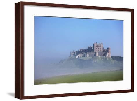 Bamburgh Castle in the Fog; Bamburgh Northumberland England-Design Pics Inc-Framed Art Print