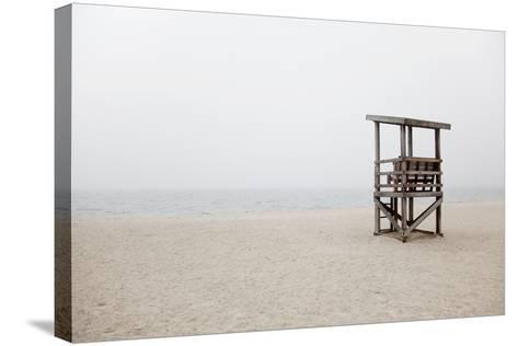 New England, Massachusetts, Cape Cod, Abandoned Lifeguard Station on Beach-Design Pics Inc-Stretched Canvas Print