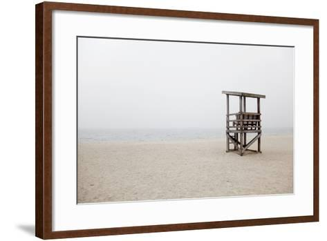 New England, Massachusetts, Cape Cod, Abandoned Lifeguard Station on Beach-Design Pics Inc-Framed Art Print
