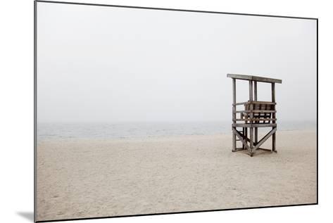 New England, Massachusetts, Cape Cod, Abandoned Lifeguard Station on Beach-Design Pics Inc-Mounted Photographic Print
