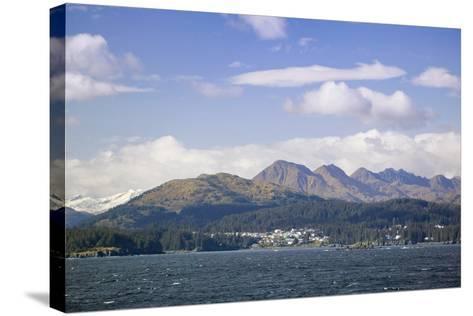 City of Kodiak on Monashka Bay Kodiak Island Gulf of Alaska Southwest Alaska Autumn-Design Pics Inc-Stretched Canvas Print