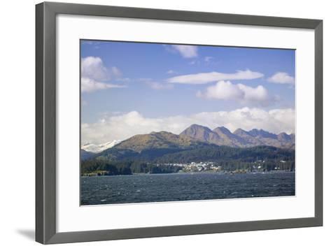 City of Kodiak on Monashka Bay Kodiak Island Gulf of Alaska Southwest Alaska Autumn-Design Pics Inc-Framed Art Print