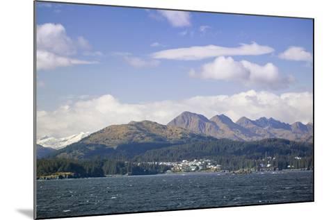 City of Kodiak on Monashka Bay Kodiak Island Gulf of Alaska Southwest Alaska Autumn-Design Pics Inc-Mounted Photographic Print
