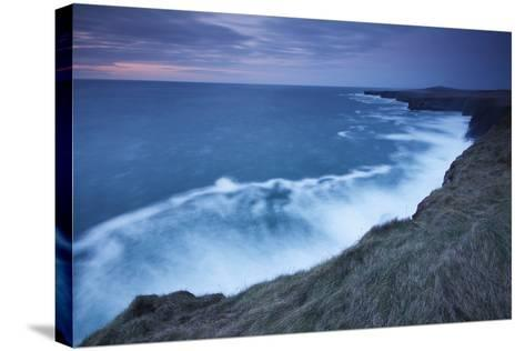 Cliffs and Coastline of Loop Head; County Clare Ireland-Design Pics Inc-Stretched Canvas Print