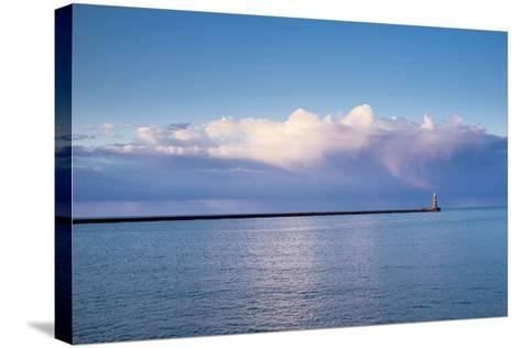 Roker Lighthouse; Sunderland Tyne and Wear England-Design Pics Inc-Stretched Canvas Print