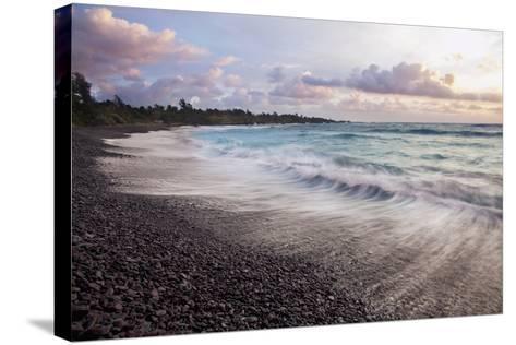 Hawaii, Maui, Hana, Dramatic Seascape of Hana's Black Sand Beach-Design Pics Inc-Stretched Canvas Print