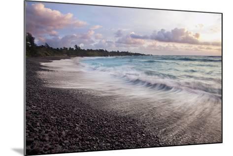 Hawaii, Maui, Hana, Dramatic Seascape of Hana's Black Sand Beach-Design Pics Inc-Mounted Photographic Print